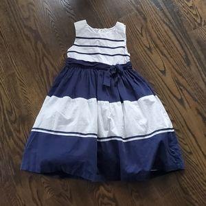 Carter's Blue Striped 100% Cotton Dress Size 5